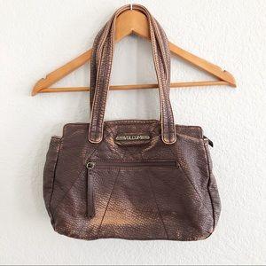 VOLCOM Distressed Brown Shoulder Bag / Purse